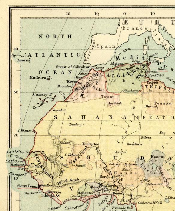 northwest africa map