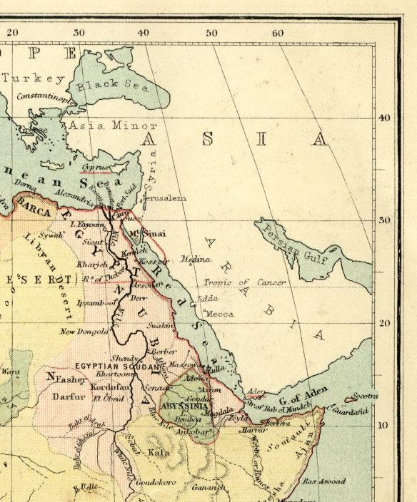 northeast africa map