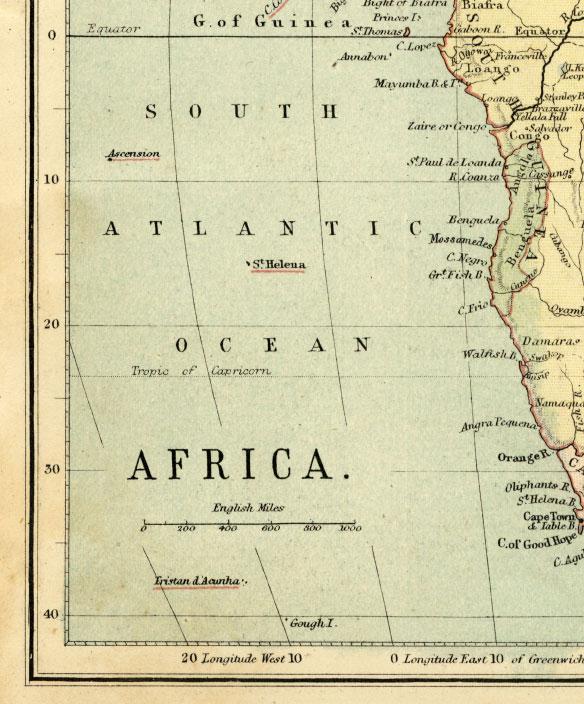 southwest africa map