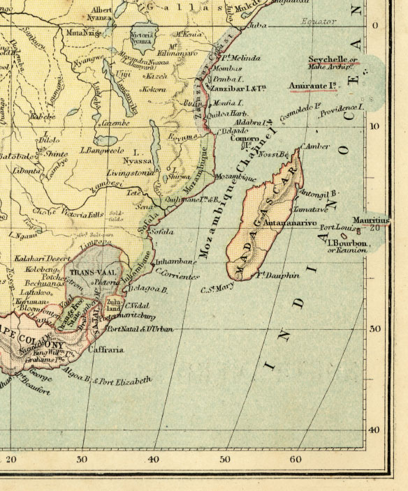 southeast africa map