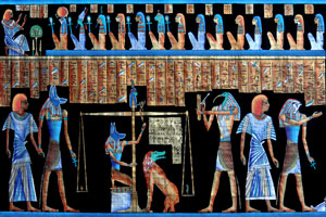 papyrus showing ancient Egyptian civilization themes